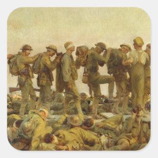 John Singer Sargent - Gassed Square Sticker