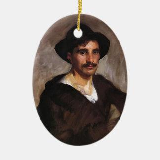 John Singer Sargent- Gondolier Christmas Tree Ornament