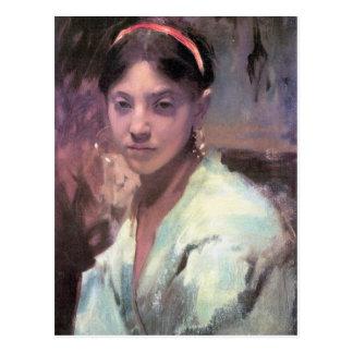 John Singer Sargent - Head of a Capri Girl Postcard