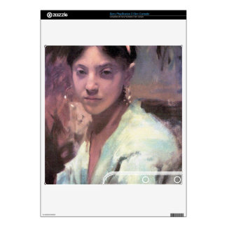 John Singer Sargent - Head of a Capri Girl Decals For The PS3 Slim