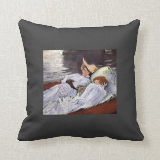John Singer Sargent- In a Punt Throw Pillows