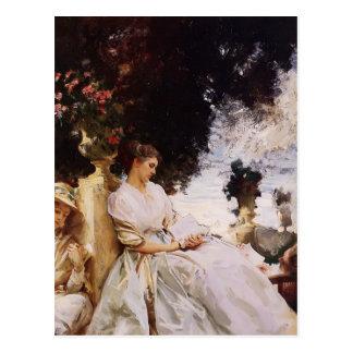 John Singer Sargent- In the Garden, Corfu Postcard