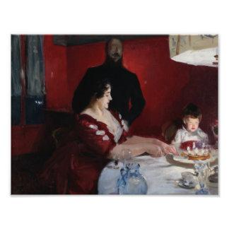 John Singer Sargent - la fiesta de cumpleaños Fotografía