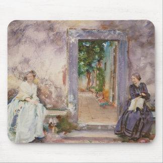 John Singer Sargent - la pared del jardín Tapete De Ratón