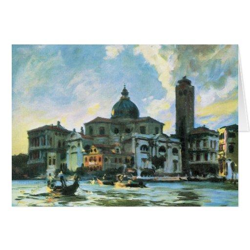 John Singer Sargent - labias Venecia de Palazzo Felicitaciones