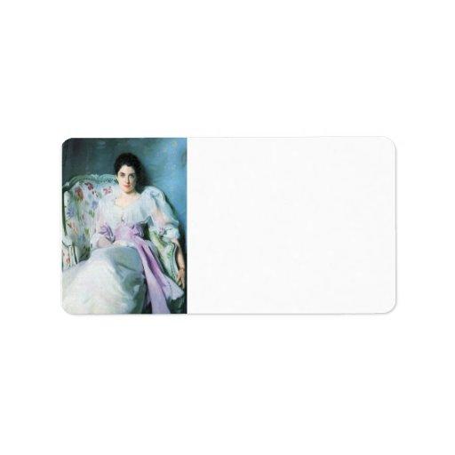 John Singer Sargent - Lady Agnew Address Label