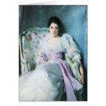 John Singer Sargent - Lady Agnew Card