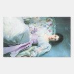 John Singer Sargent - Lady Agnew Rectangular Stickers
