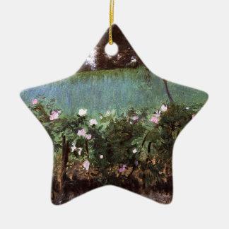 John Singer Sargent- Landscape with Rose Trellis Ceramic Ornament