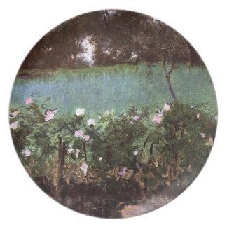 John Singer Sargent- Landscape with Rose Trellis Melamine Plate