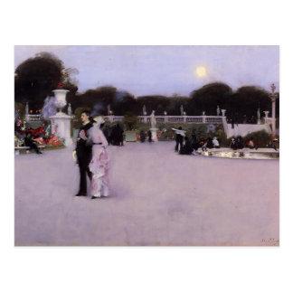 John Singer Sargent-Luxembourg Gardens at Twilight Postcard
