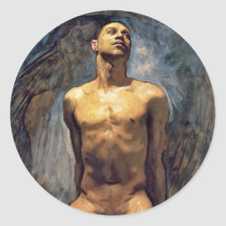John Singer Sargent - Male Study Classic Round Sticker