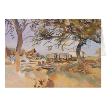 John Singer Sargent - Military Camp Card