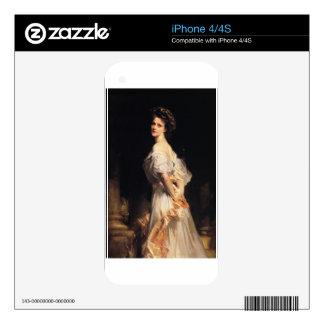 John Singer Sargent - Nancy Astor Decal For iPhone 4