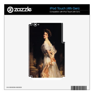 John Singer Sargent - Nancy Astor - Fine Art iPod Touch 4G Decals