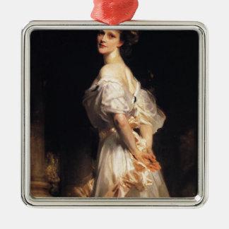 John Singer Sargent - Nancy Astor - Fine Art Metal Ornament