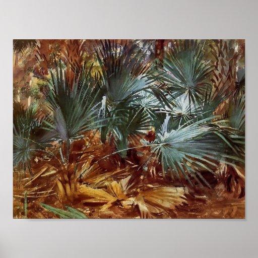 John Singer Sargent: Palmettos Poster