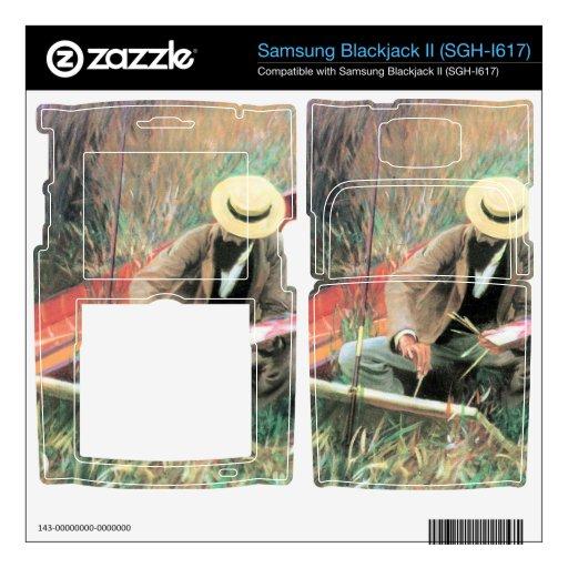 John Singer Sargent - Paul Helleu se coloca con el Samsung Blackjack II Skin