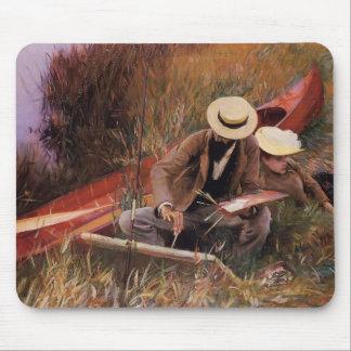 John Singer Sargent-Paul Helleu Sketching his Wife Mouse Pad
