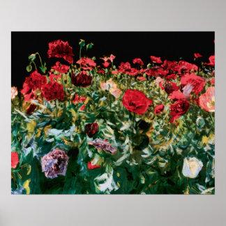 John Singer Sargent Poppies Fine Art Poster