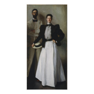 John Singer Sargent - Portrait of Mr. & Mrs. Stoke Poster