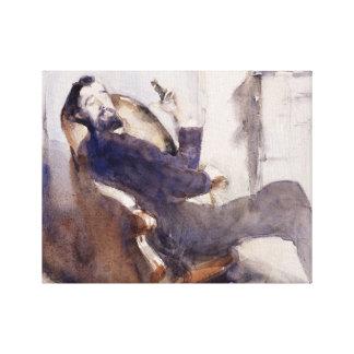 John Singer Sargent -Portrait of Paul-Cesar Helleu Canvas Print
