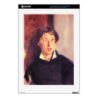 John Singer Sargent - Portrait of Vernon Lee Decals For PS3 Console