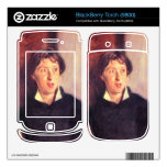 John Singer Sargent - retrato de Vernon Lee Calcomanías Para BlackBerry