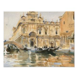 John Singer Sargent - Rio dei Mendicanti, Venice Photo Print