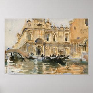 John Singer Sargent - Rio dei Mendicanti, Venice Poster