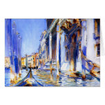 John Singer Sargent Rio dell'Angelo Venice Greeting Card