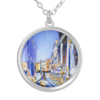 John Singer Sargent Rio dell'Angelo Venice Silver Plated Necklace