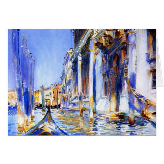 John Singer Sargent Rio dell'Angelo Venice Stationery Note Card