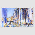 John Singer Sargent Rio dell'Angelo Venice Rectangular Sticker