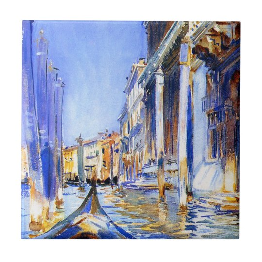 John Singer Sargent Rio dell'Angelo Venice tile
