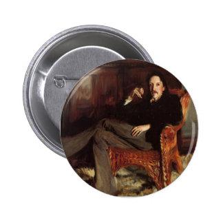 John Singer Sargent- Robert Louis Stevenson 2 Inch Round Button