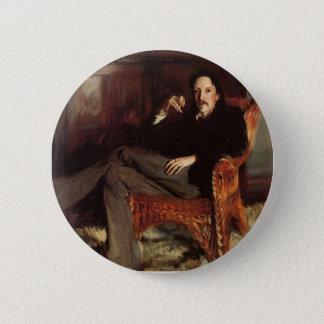 John Singer Sargent- Robert Louis Stevenson Pinback Button