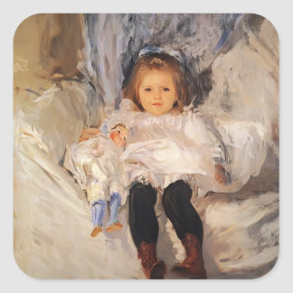 John Singer Sargent- Ruth Sears Bacon Square Sticker