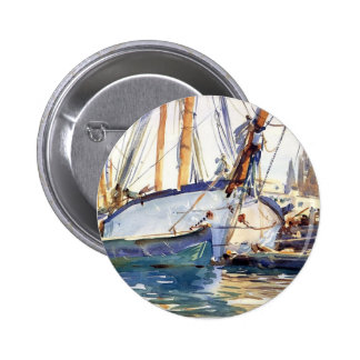 John Singer Sargent- Shipping, Majorca Pinback Buttons