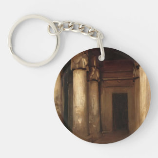 John Singer Sargent- Temple of Denderah Single-Sided Round Acrylic Keychain