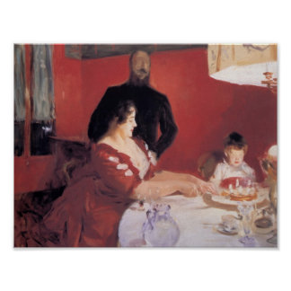 John Singer Sargent- The Birthday Party Poster