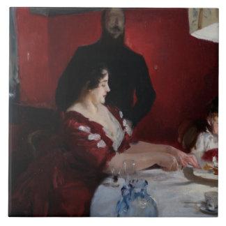 John Singer Sargent - The Birthday Party Tile