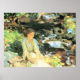 John Singer Sargent - The black creek Poster