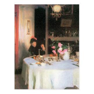 John Singer Sargent - The breakfast table Postcard