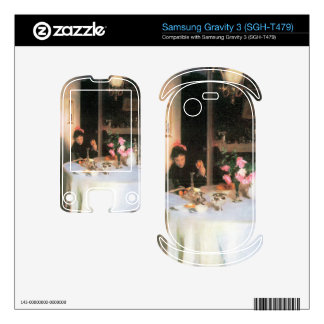 John Singer Sargent - The breakfast table Samsung Gravity 3 Decal