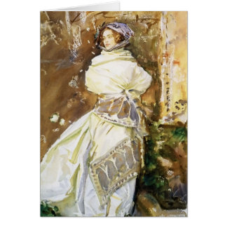 John Singer Sargent: The Cashmere Shawl Card