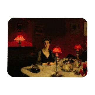 John Singer Sargent - una tabla de cena en la Imán Rectangular