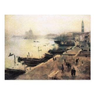 John Singer Sargent - Venecia en mún tiempo Tarjetas Postales