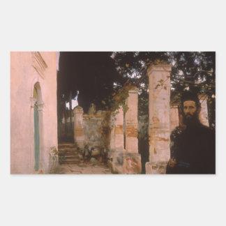 John Singer Sargent - Vespers Rectangular Sticker