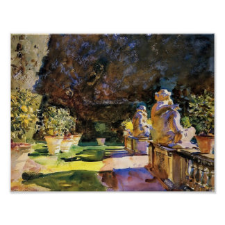 John Singer Sargent- Villa di Marlia: Lucca Poster